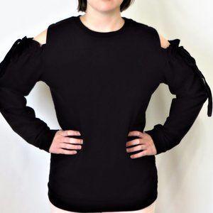 Zara Trafaluc Tied Cold Shoulder Sweatshirt